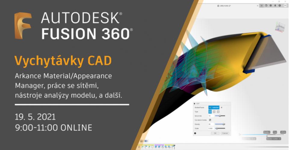 Online školení - Fusion 360 CAD vychytávky - přístup k záznamu přednášky