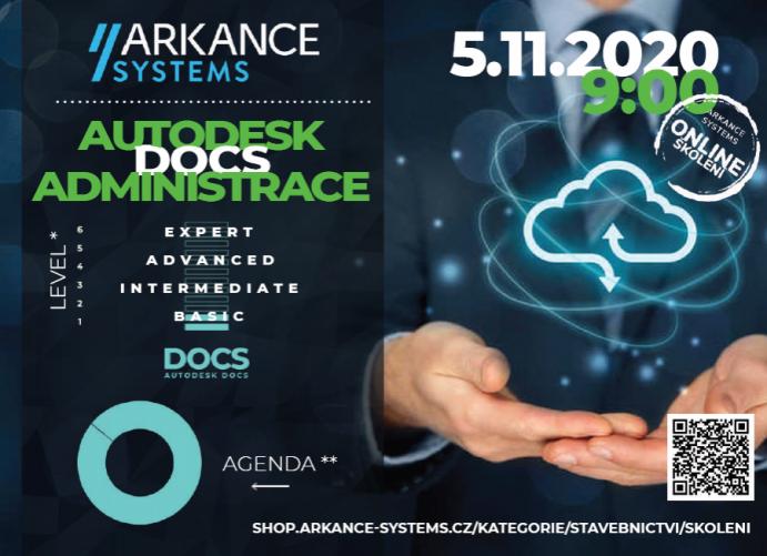 Online školení - AUTODESK DOCS – pro administrátora účtu/projektů , 5.11.2021 od 9:00