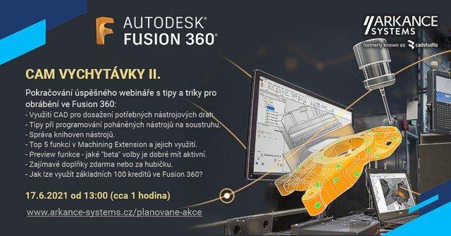 Online školení - Fusion 360 CAM vychytávky II - přístup k záznamu přednášky