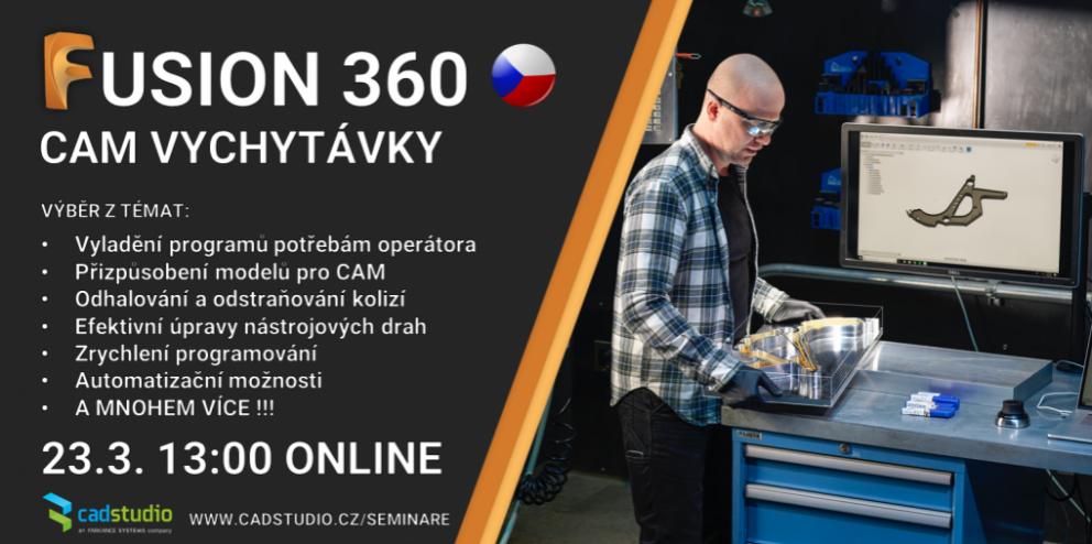 Fusion 360 CAM vychytávky - přístup k záznamu přednášky