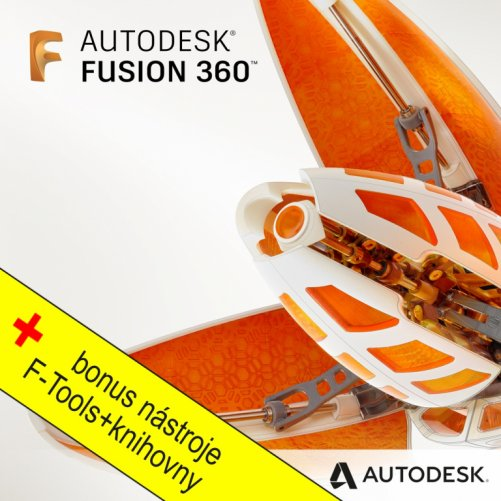 Autodesk Fusion 360 + bonusy, pronájem na 3 roky