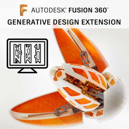 Fusion 360 Generative Design Extension , pronájem na 1 rok PROMO ( pouze do 26.01.2021)