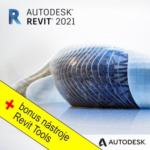 Autodesk Revit 2021+ bonusy CS+, pronájem na 1 měsíc s automatickou obnovou