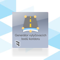 Generátor vytyčovacích bodů koridoru (GVBK)