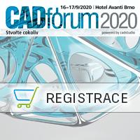 Účast na konferenci CADfórum 2020, Strojírenství + Stavebnictví 16.9. - 17.9. 2020